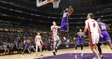 James y Anthony Davis sobreviven a la brillante defensa de Miami Heat; 7ª victoria seguida de Lakers