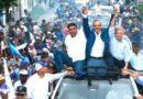 Abinader concluye en Higüey bajo lluvia recorridos de apoyo a candid