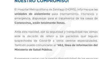 "Hospital Metropolitano de Santiago ""unidades para pacientes"