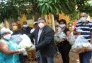 Alcalde electo distribuye alimentos en La Victoria