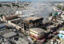 Sistema 9-1-1 desplegó 30 unidades de respuesta al incendio de la fábrica de papel en Villa Juana