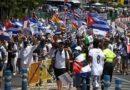 """""""Si Cuba está en la calle, España también"""": masiva manifestación en Madrid contra la dictadura castrista"""