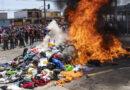 Al menos cuatro personas serán imputadas en Chile por la quema de las carpas de migrantes venezolanos durante una marcha xenófoba